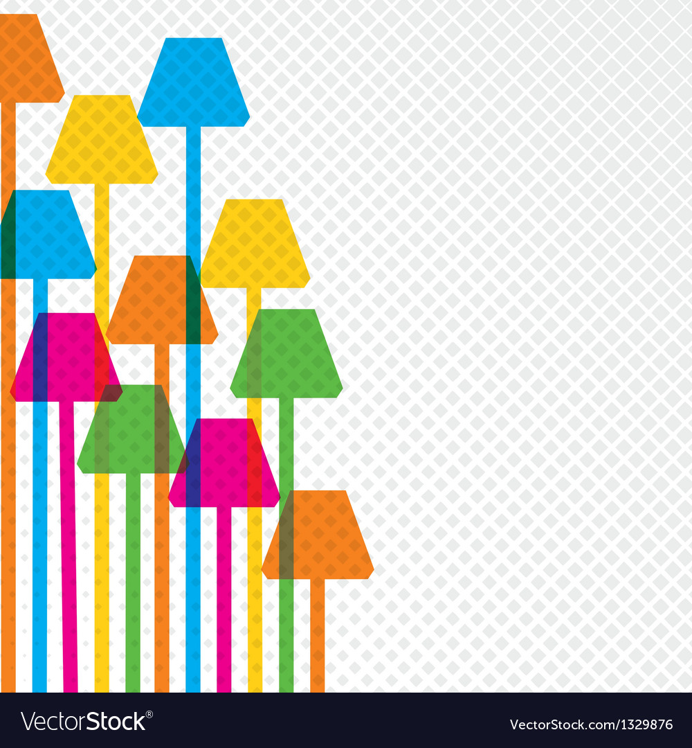 Colorful lamp background vector | Price: 1 Credit (USD $1)