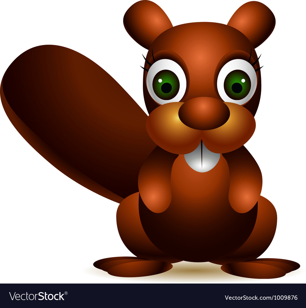 Cute squirrel cartoon vector | Price: 3 Credit (USD $3)
