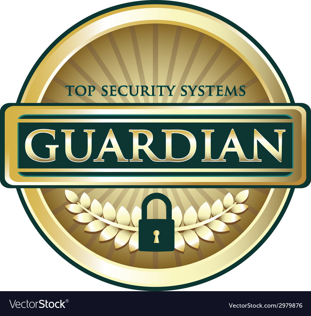 Guardian gold label vector | Price: 1 Credit (USD $1)