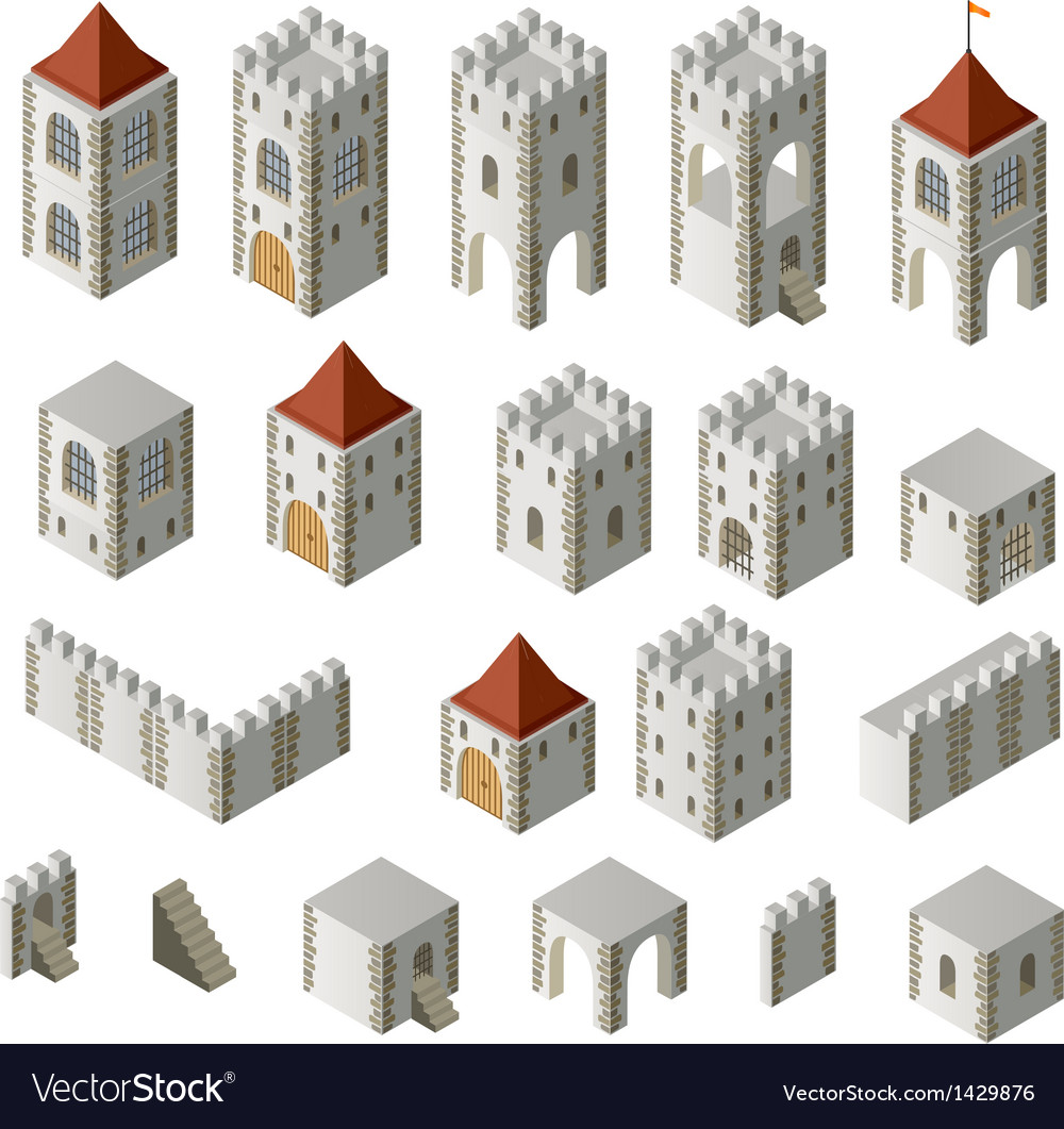 Medieval buildings vector | Price: 1 Credit (USD $1)