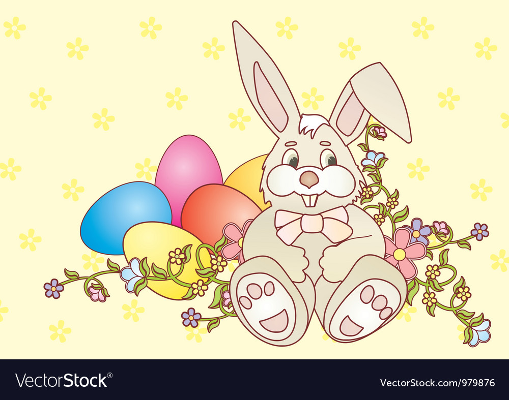 Rabbit easter2 converted vector | Price: 1 Credit (USD $1)