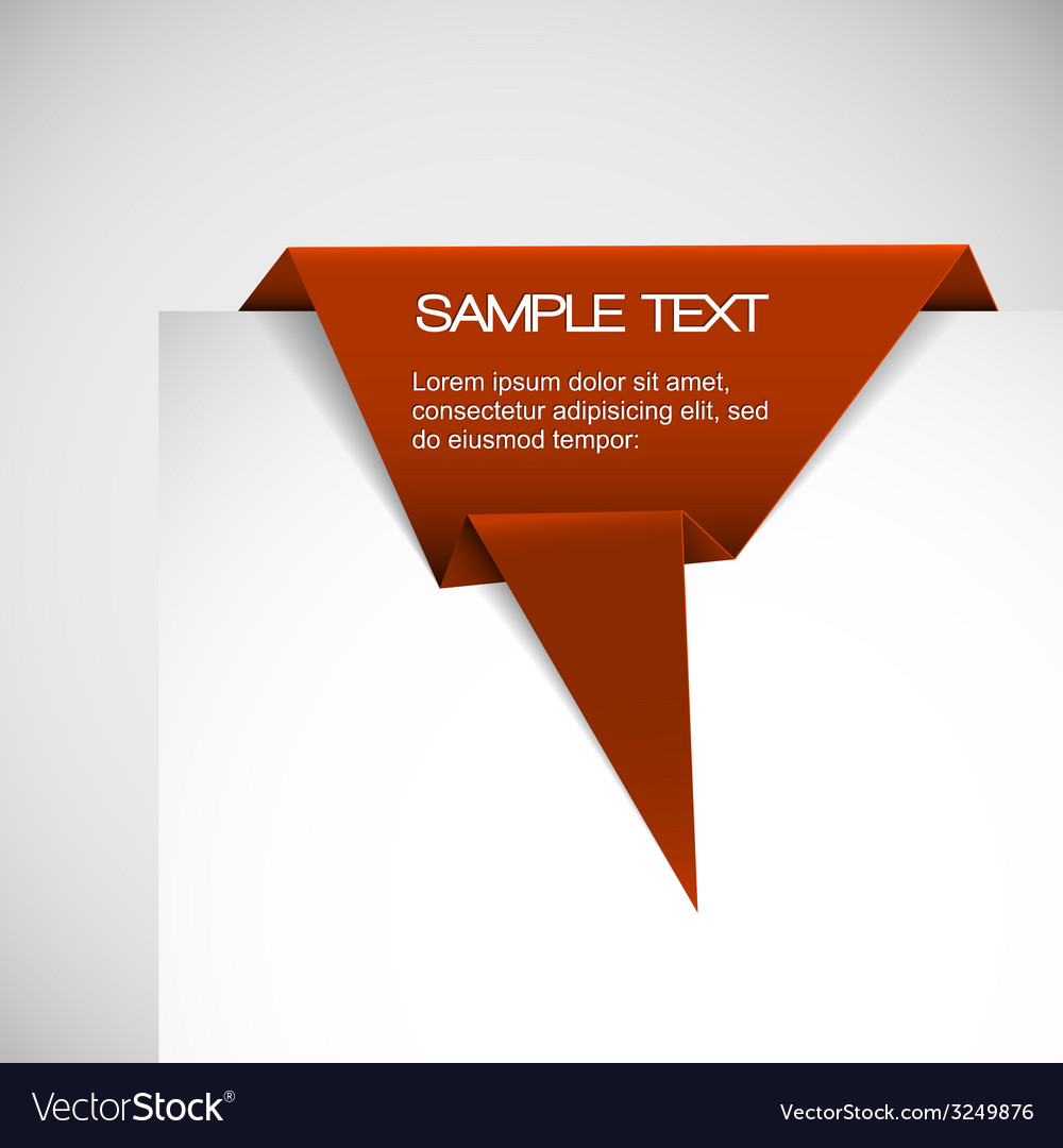 Red paper origami ribbon vector | Price: 1 Credit (USD $1)