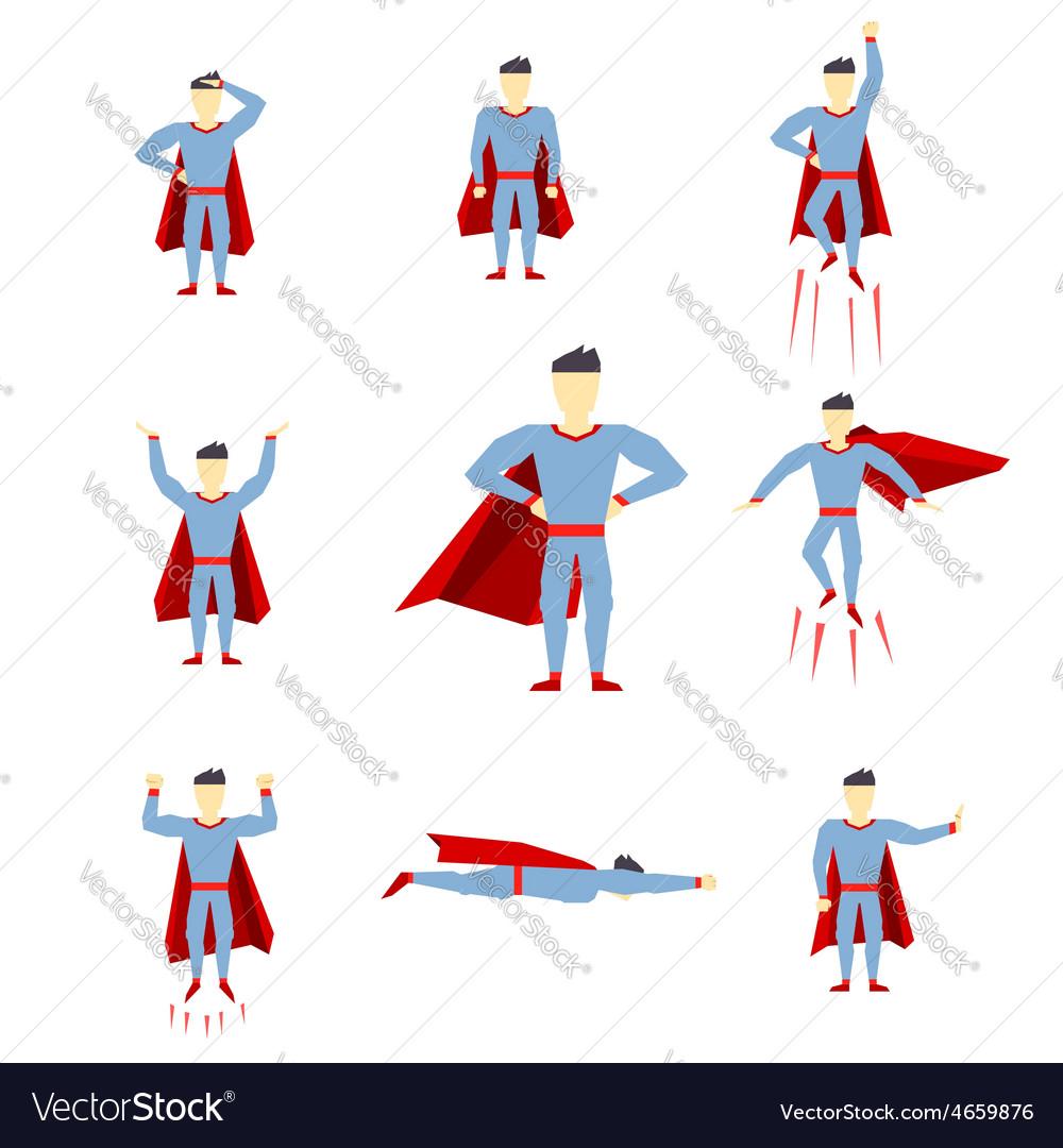 Superhero comic book style page cartoon pose vector   Price: 1 Credit (USD $1)