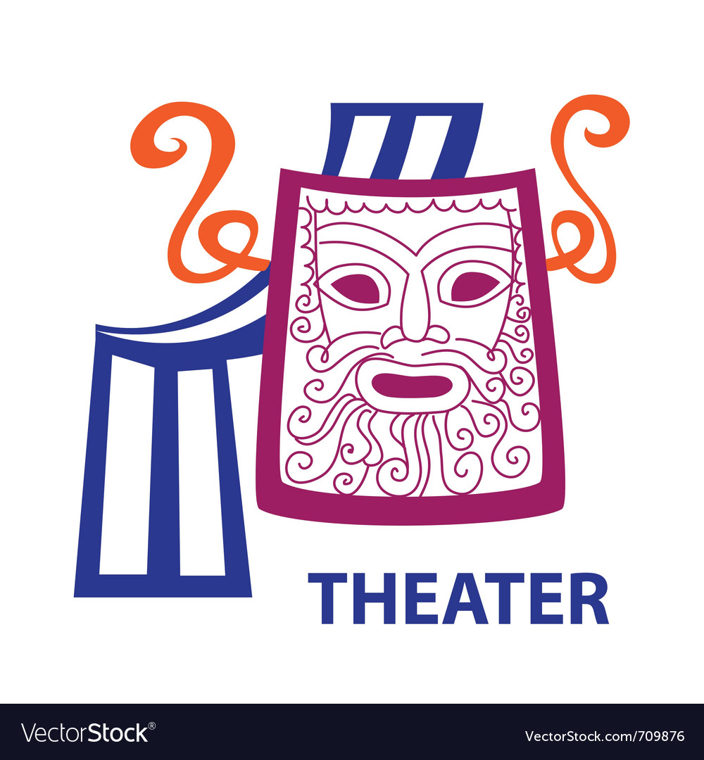 Symbol of theater sign vector | Price: 1 Credit (USD $1)