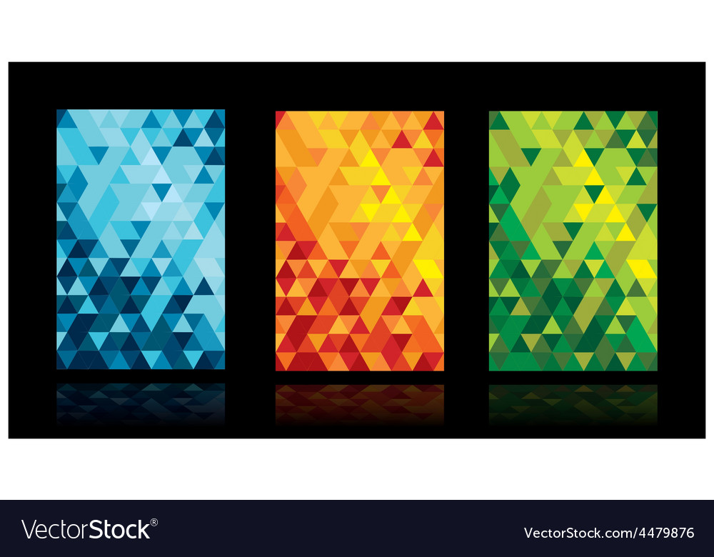 Triangle background set vector