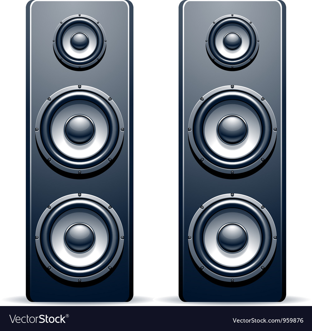 Two audio speakers vector | Price: 3 Credit (USD $3)