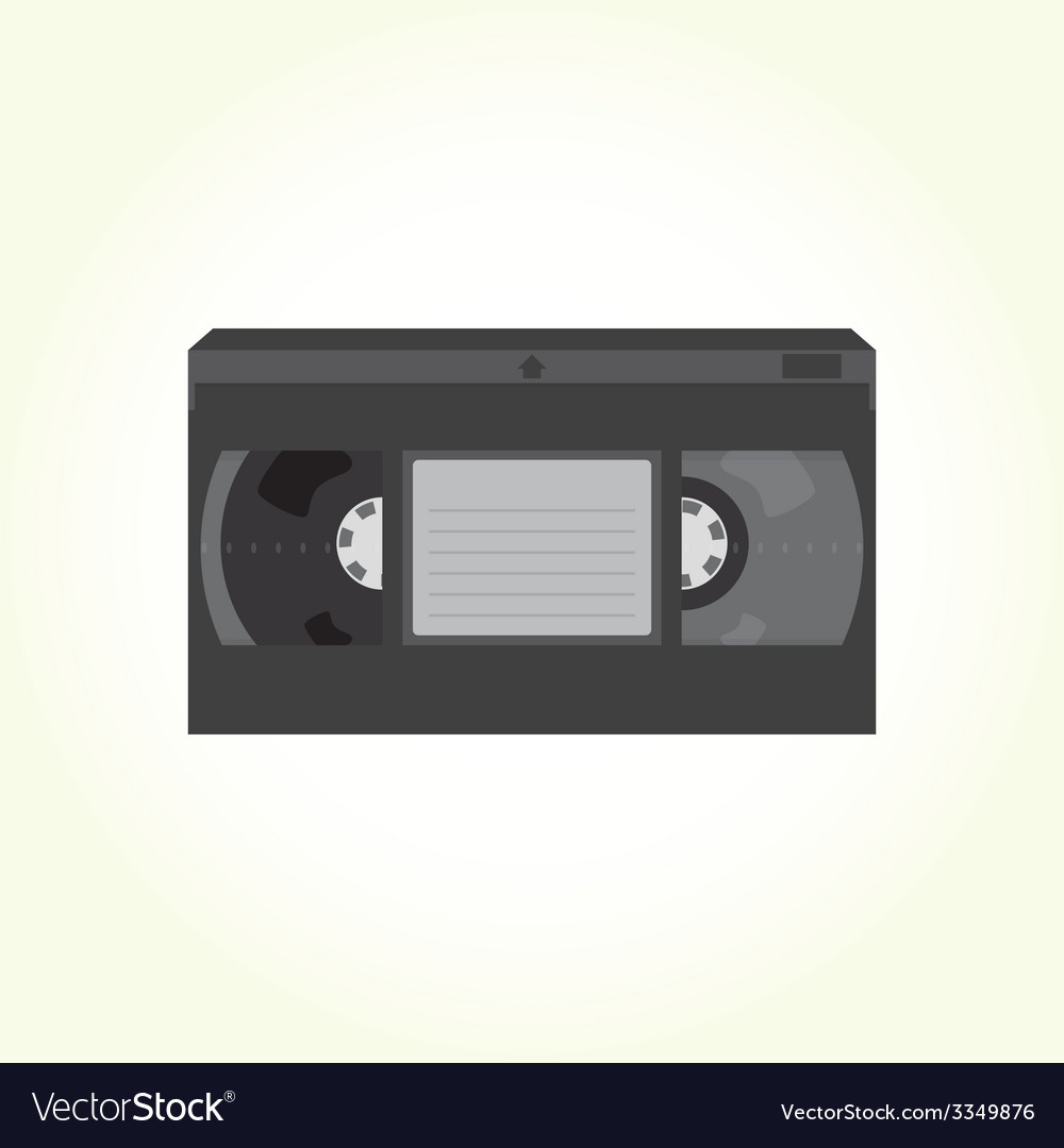 Vhs video tape cassette vector | Price: 1 Credit (USD $1)