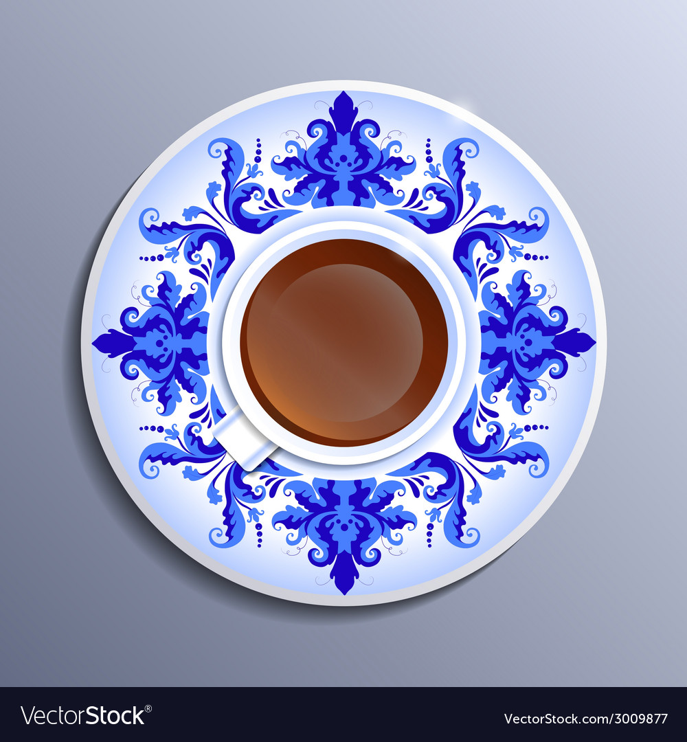 A cup of tea vector | Price: 1 Credit (USD $1)