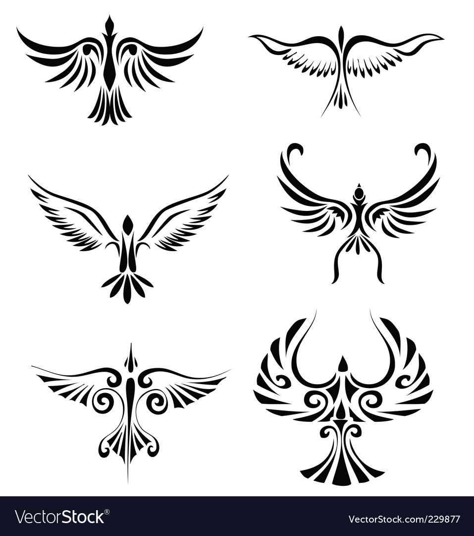Bird tribal tattoo vector | Price: 1 Credit (USD $1)