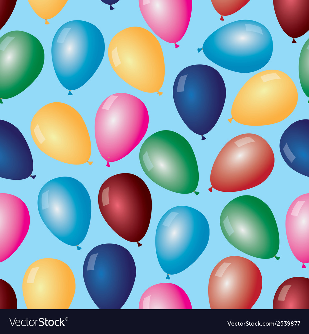 Colorful balloons with helium pattern eps10 vector | Price: 1 Credit (USD $1)