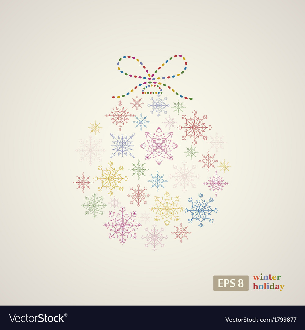 Decoration snowflakes event ball vector | Price: 1 Credit (USD $1)