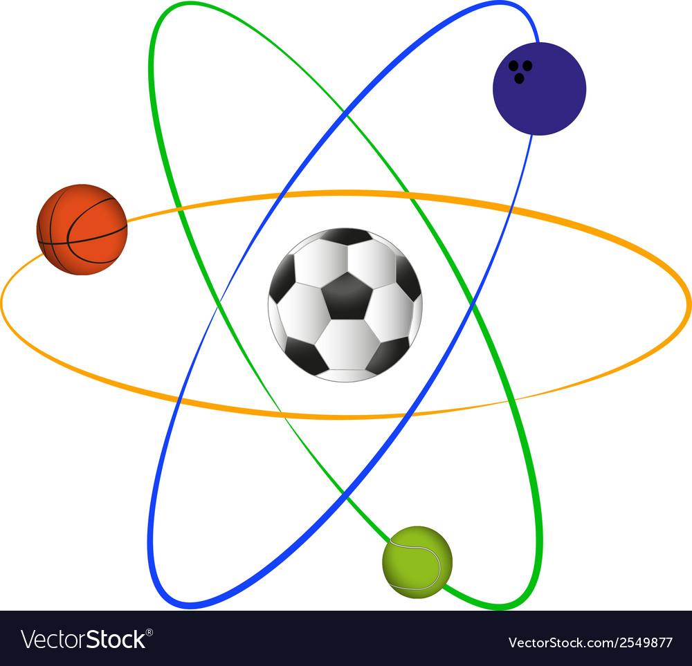 Football atom design vector | Price: 1 Credit (USD $1)