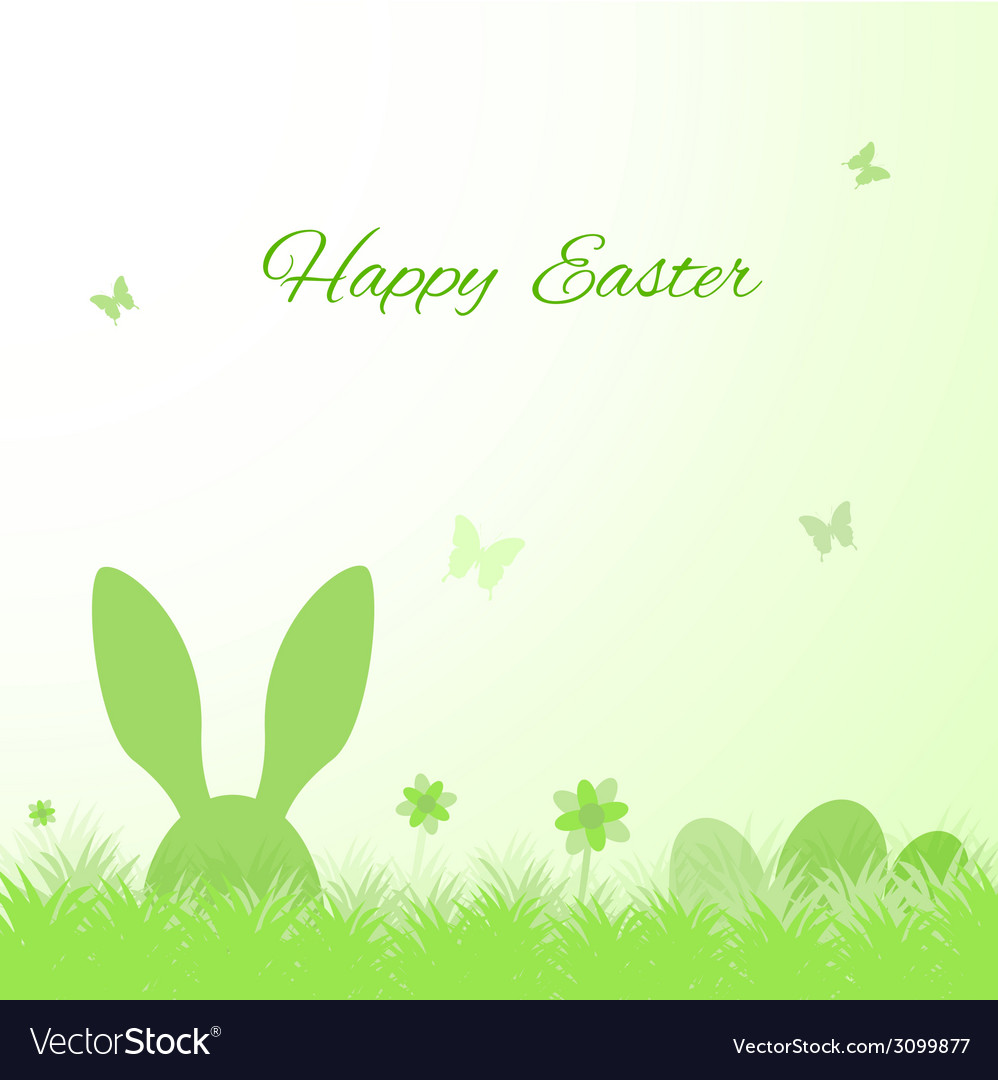 Happy easter cute greeting card vector | Price: 1 Credit (USD $1)
