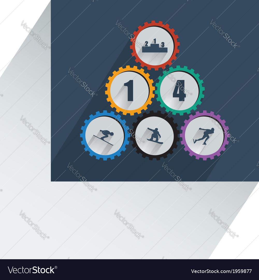 Olympic gear wheel vector   Price: 1 Credit (USD $1)