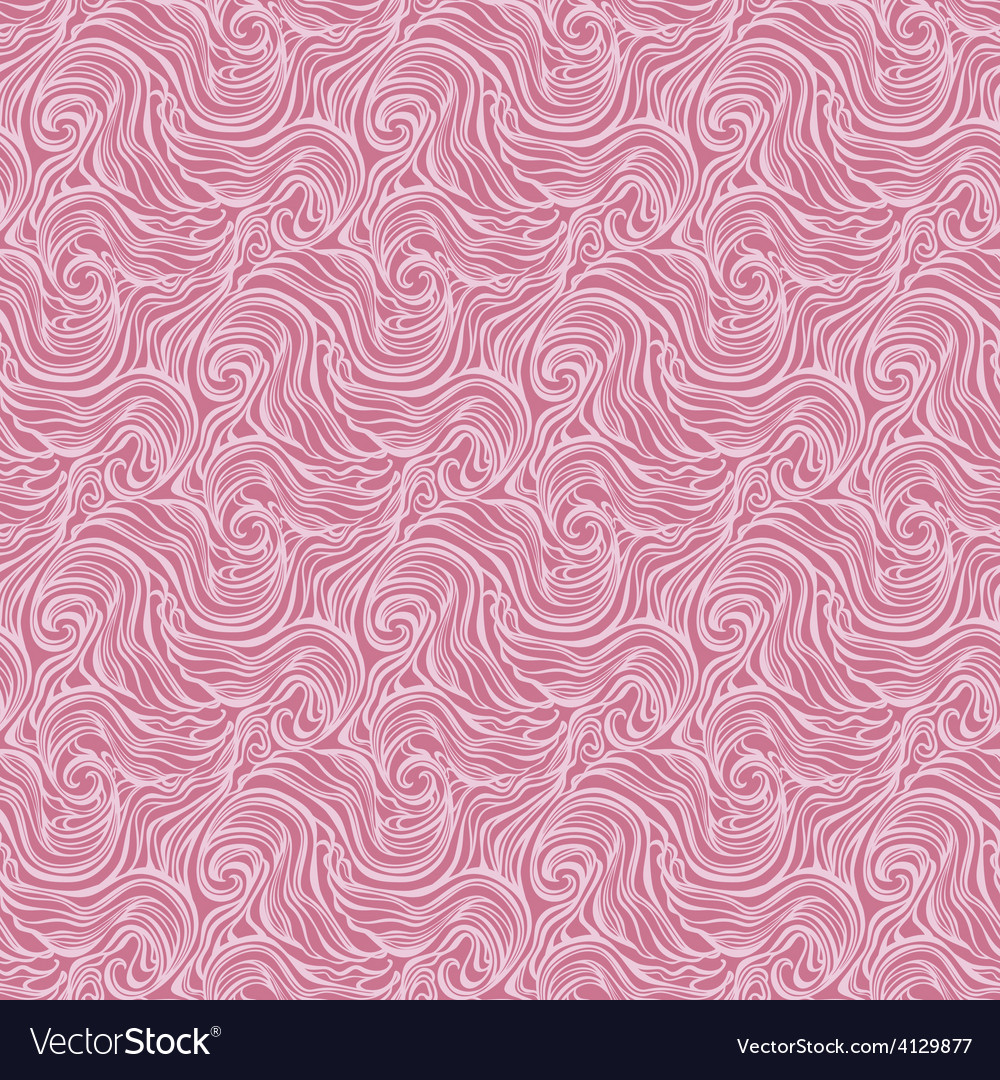 Seamless abstract hand-drawn curly pattern with vector | Price: 1 Credit (USD $1)