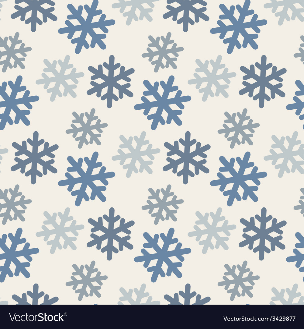 Seamless pattern with colorful snowflakes in blue vector | Price: 1 Credit (USD $1)