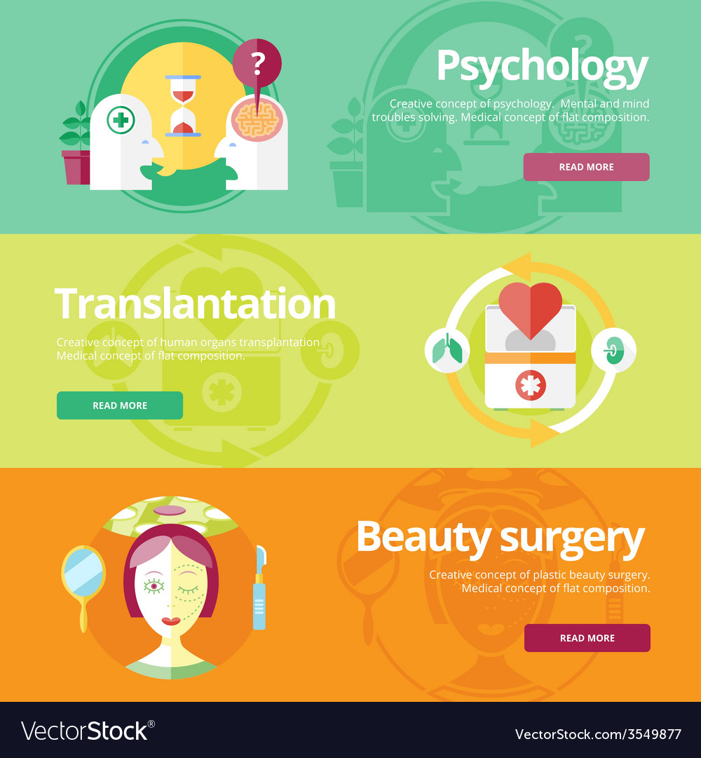 Set of flat design concepts for psychologyst vector | Price: 1 Credit (USD $1)