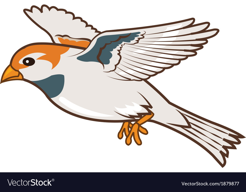 Sparrow flying animation vector | Price: 1 Credit (USD $1)