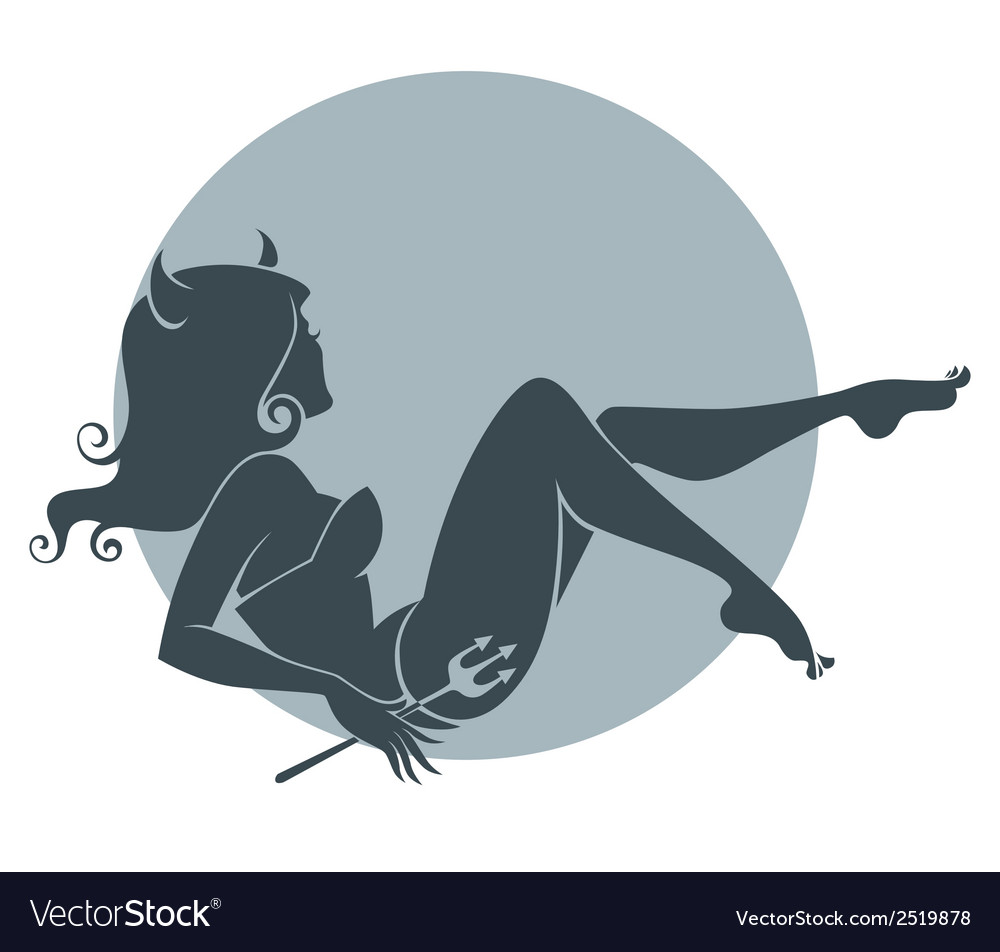 Beautiful devil vector | Price: 1 Credit (USD $1)