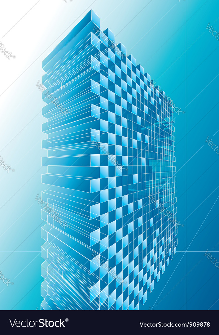 Blue structure abstract vector | Price: 1 Credit (USD $1)