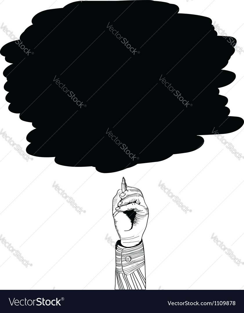 Businessman drawing a cloud vector | Price: 1 Credit (USD $1)