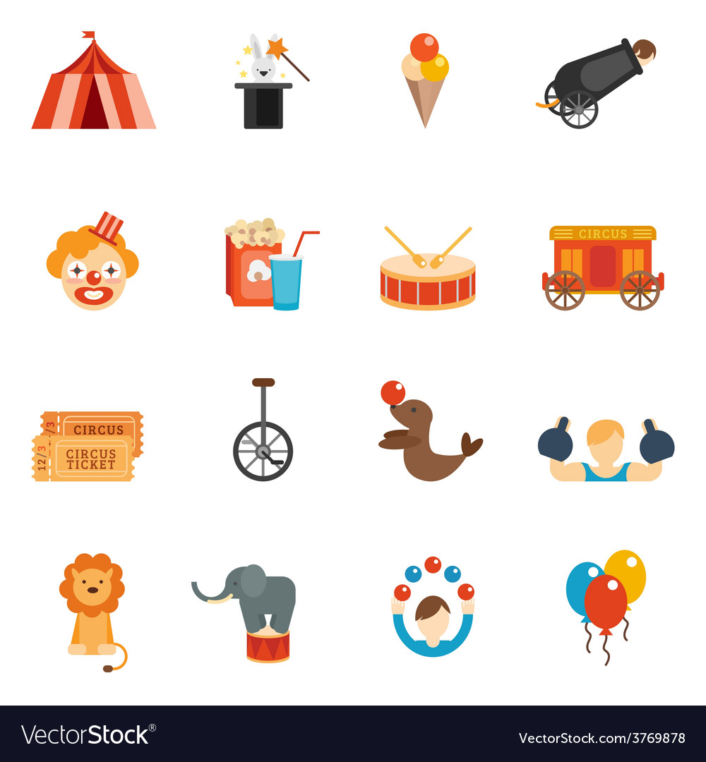 Circus icon flat vector | Price: 1 Credit (USD $1)
