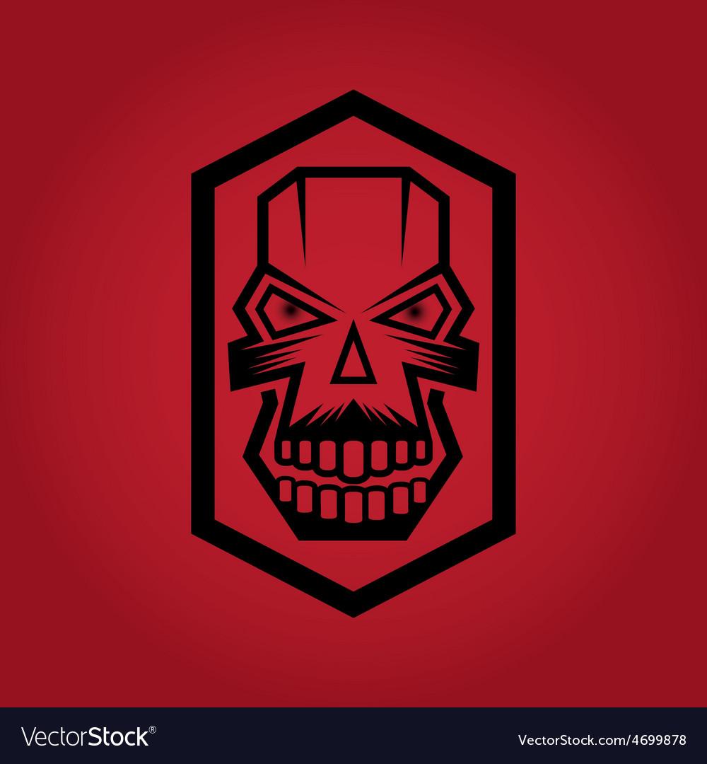 Digital skulls on red background vector | Price: 1 Credit (USD $1)