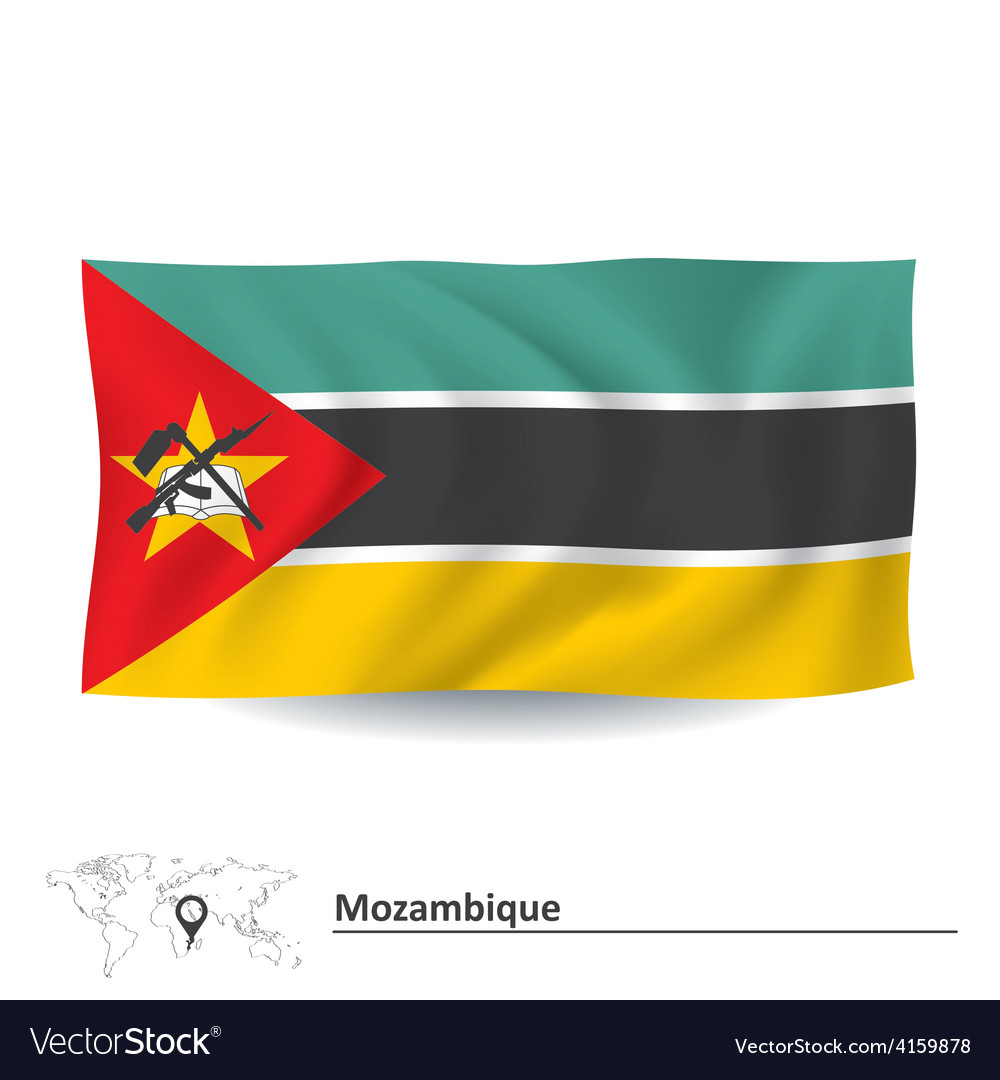 Flag of mozambique vector | Price: 1 Credit (USD $1)