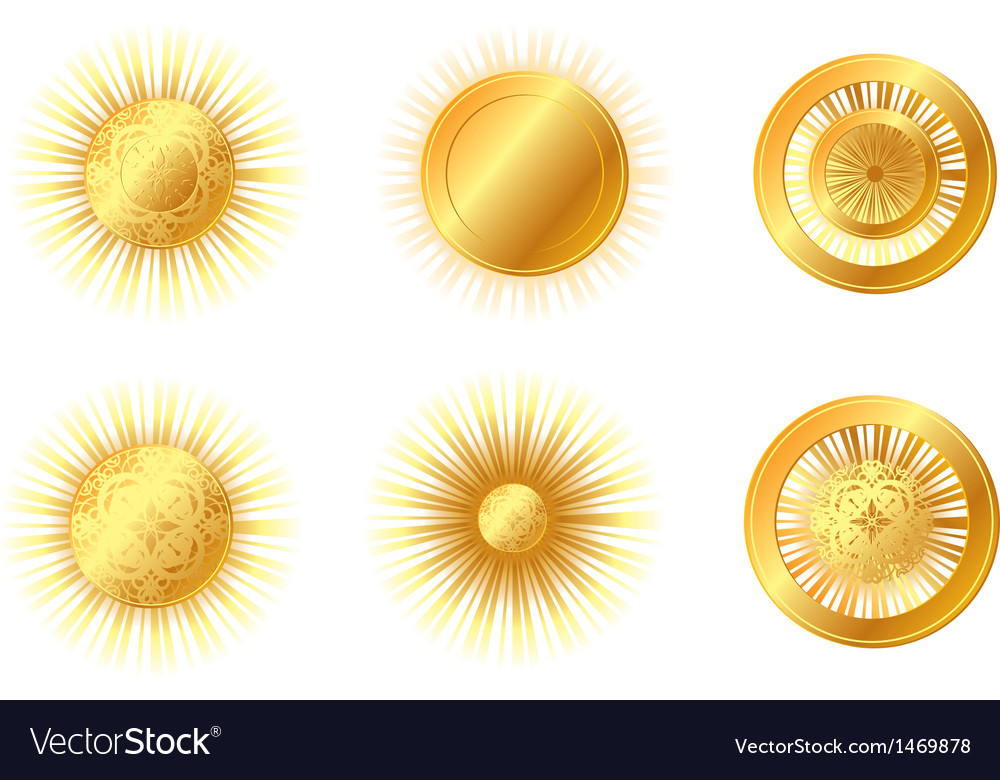 Golden suns vector | Price: 1 Credit (USD $1)