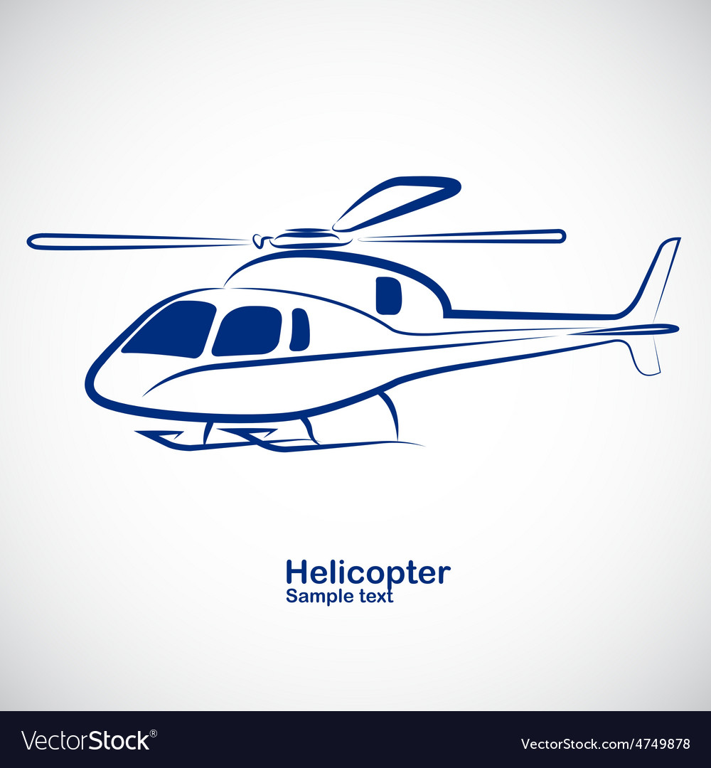 Helicopter 2 vector | Price: 1 Credit (USD $1)