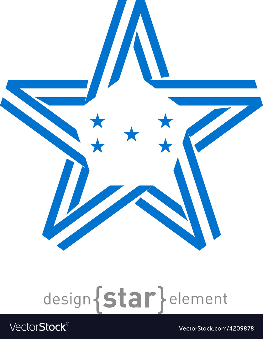 Monocrome star with honduras flag colors and vector | Price: 1 Credit (USD $1)