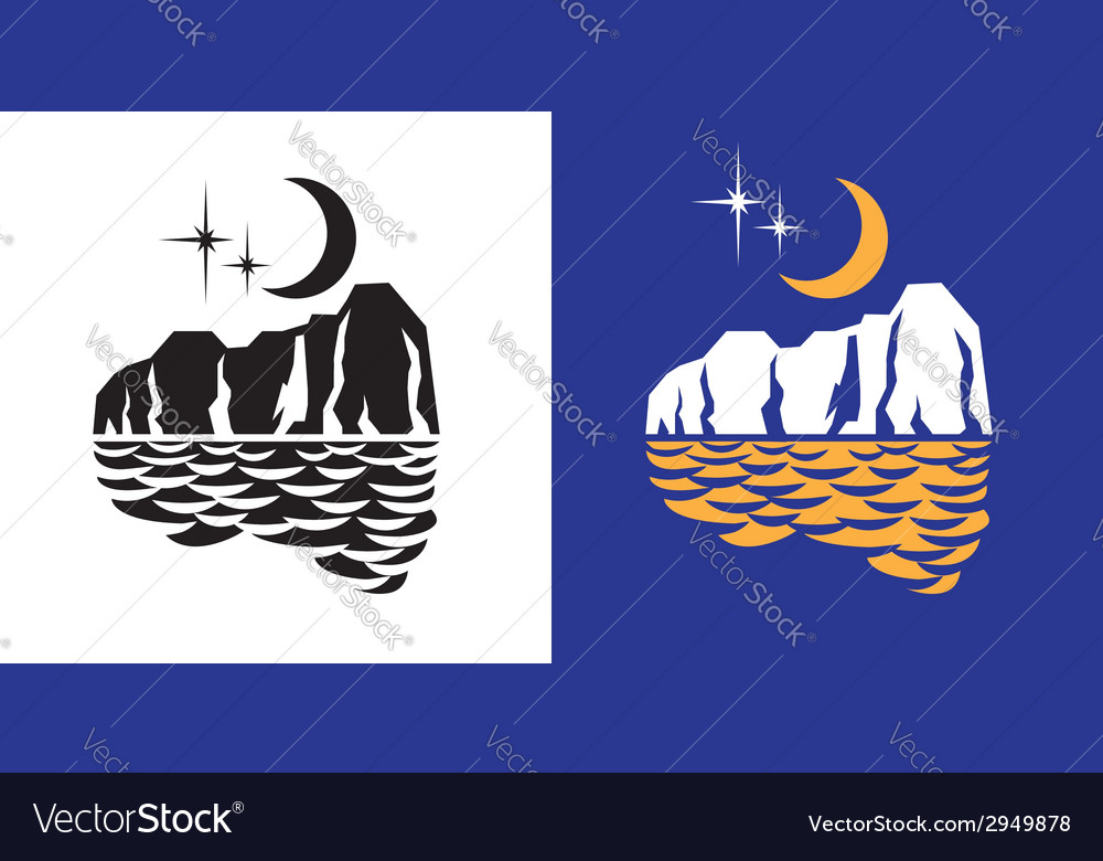 Moon lights vector | Price: 1 Credit (USD $1)