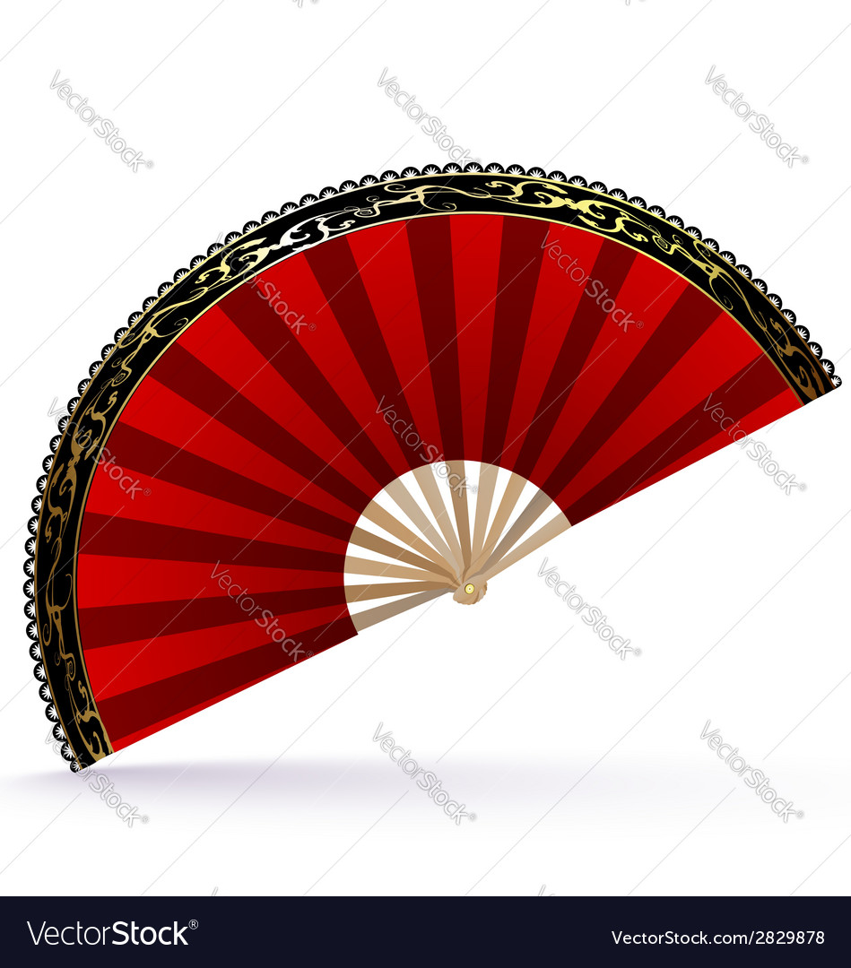 Red-golden fan vector | Price: 1 Credit (USD $1)