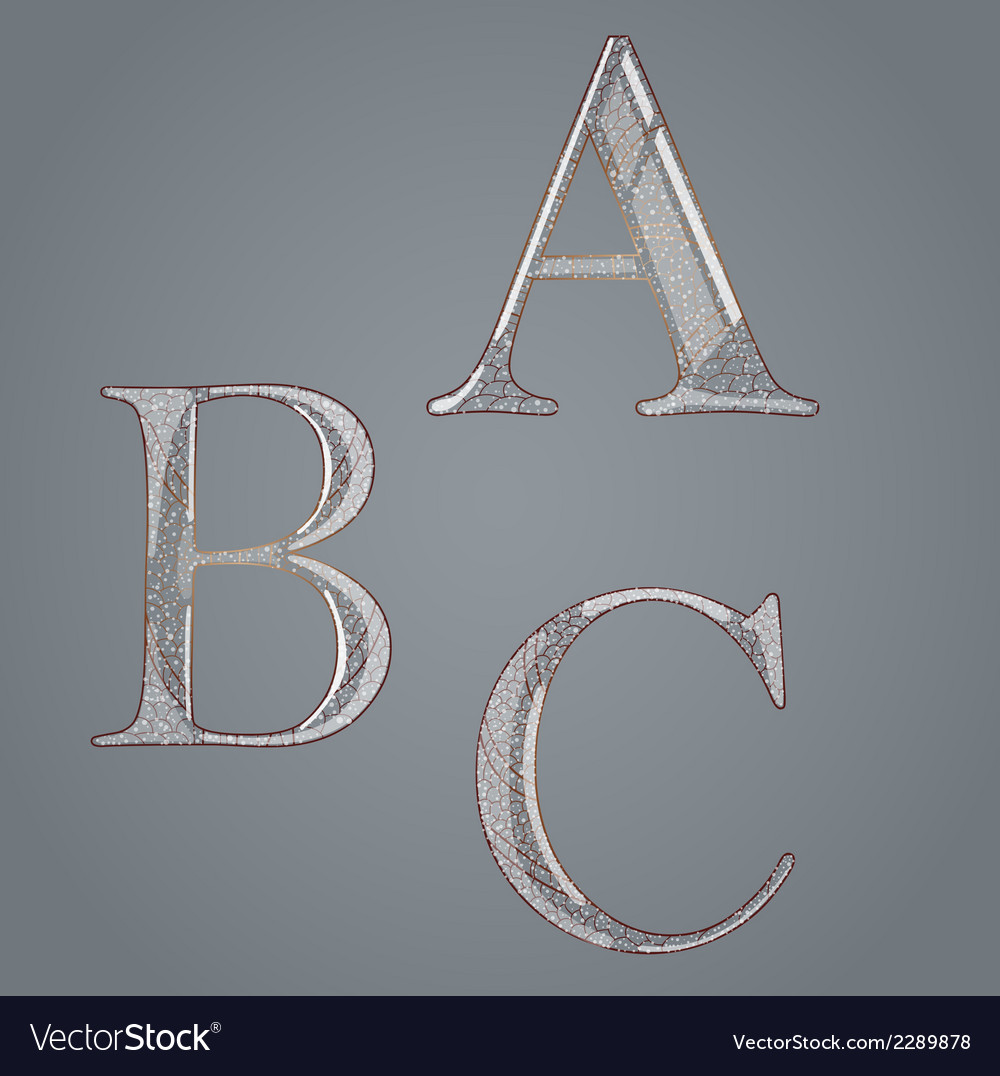 Set with abstract letters vector | Price: 1 Credit (USD $1)