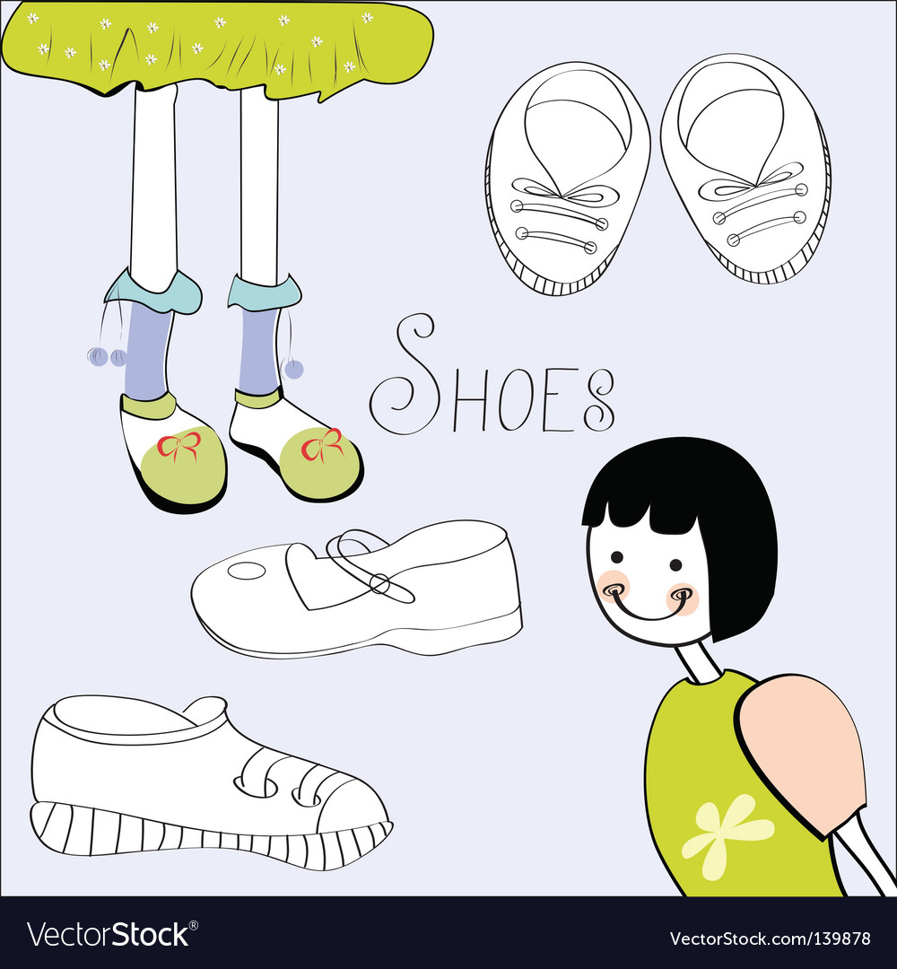 Template with shoes element vector | Price: 1 Credit (USD $1)