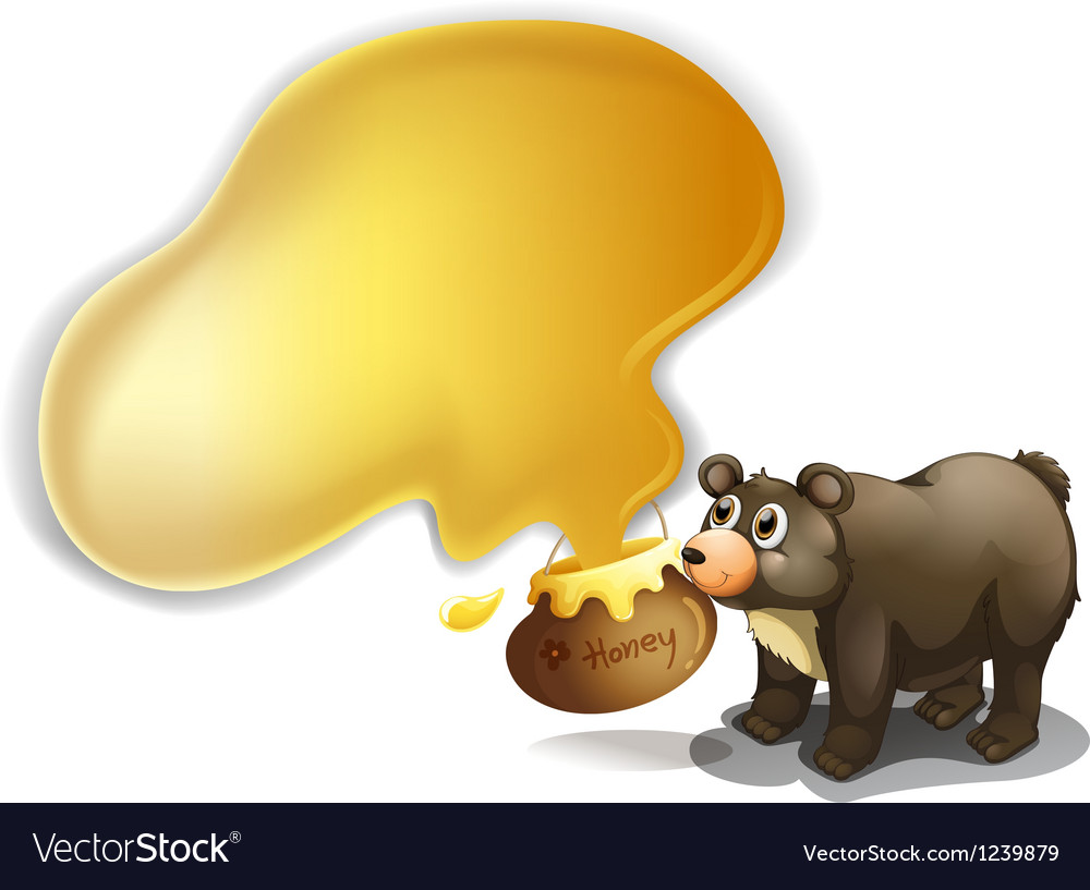 A bear and a pot of honey vector | Price: 1 Credit (USD $1)
