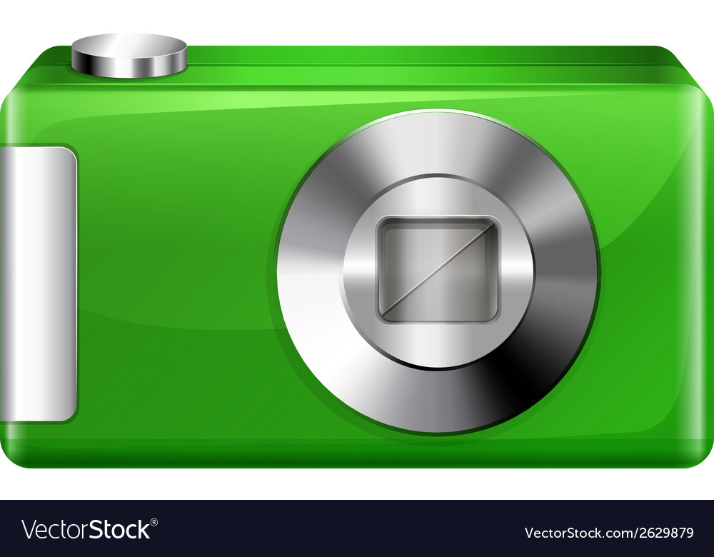 A green digicam vector | Price: 1 Credit (USD $1)
