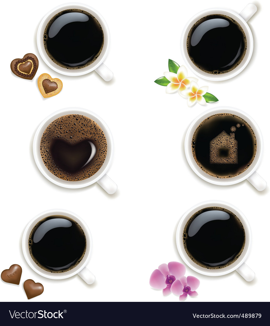 Collection of cups from coffee vector | Price: 1 Credit (USD $1)