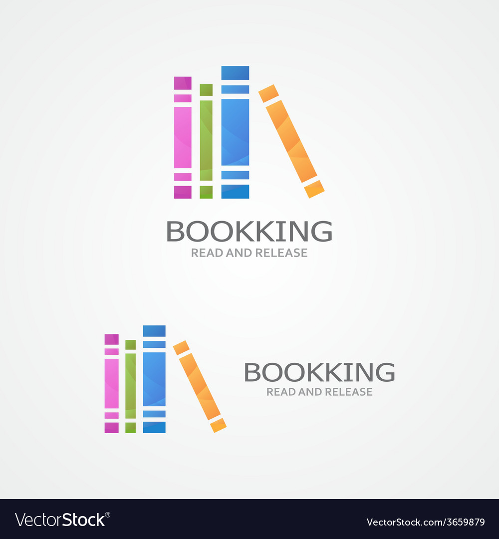 Logo with a colored books vector | Price: 1 Credit (USD $1)