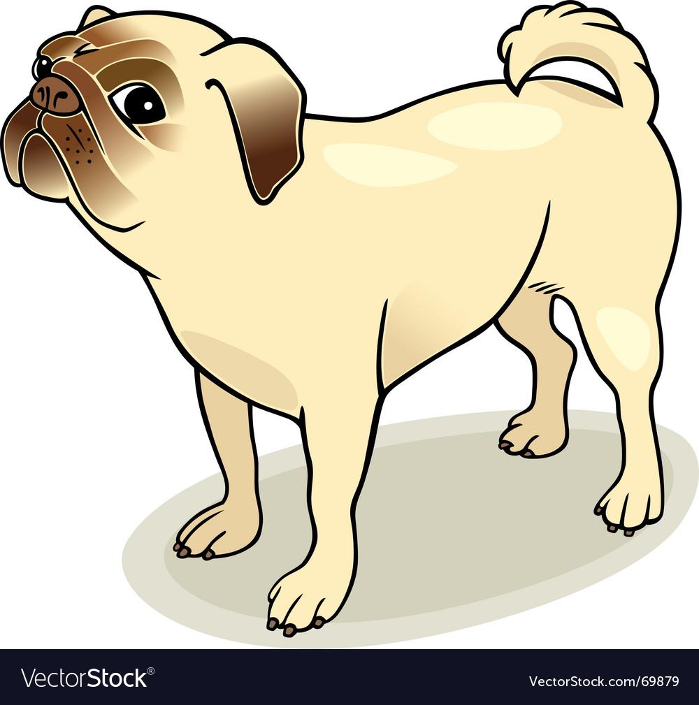 Pug dog vector   Price: 1 Credit (USD $1)