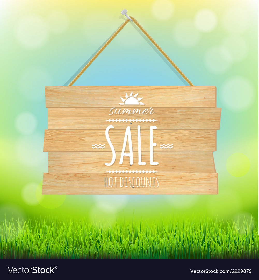 Sale wooden board vector | Price: 1 Credit (USD $1)