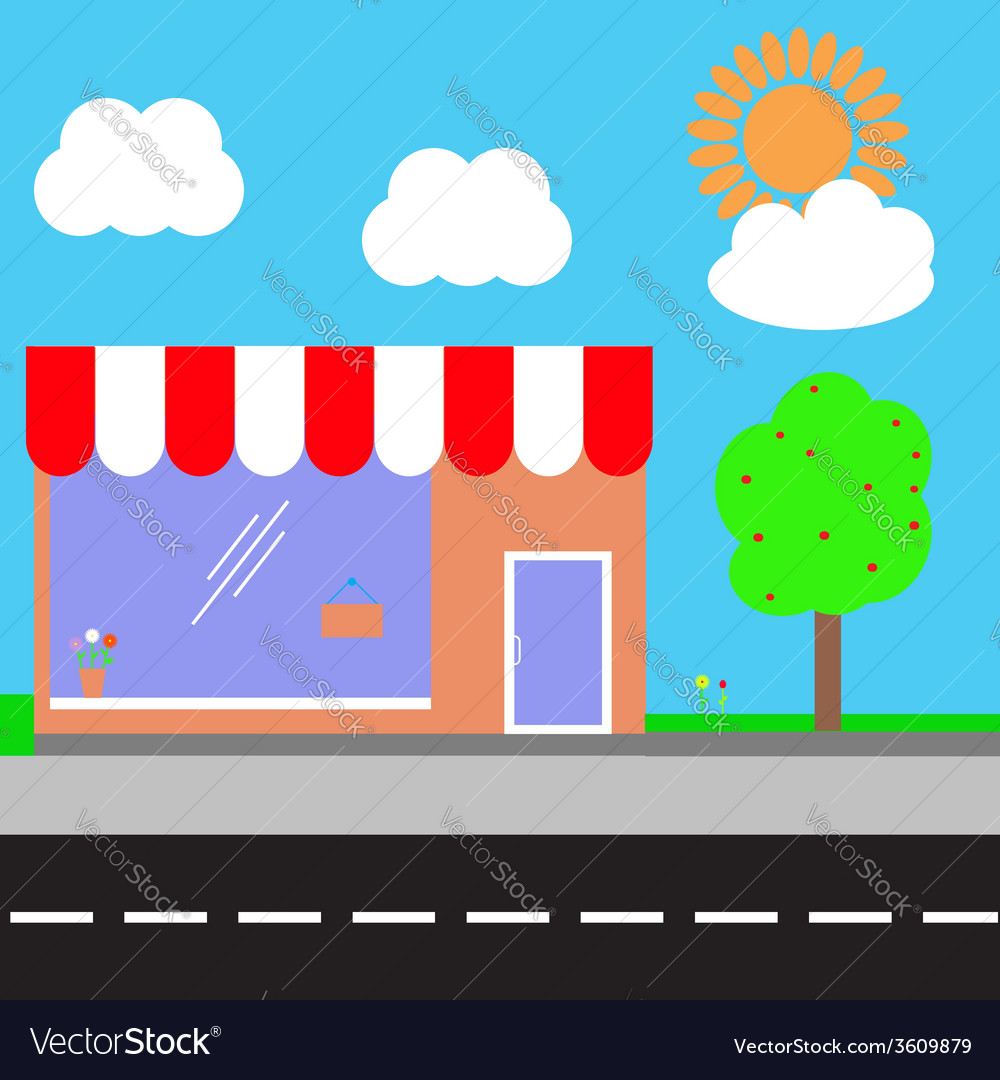 Shopping center vector | Price: 1 Credit (USD $1)