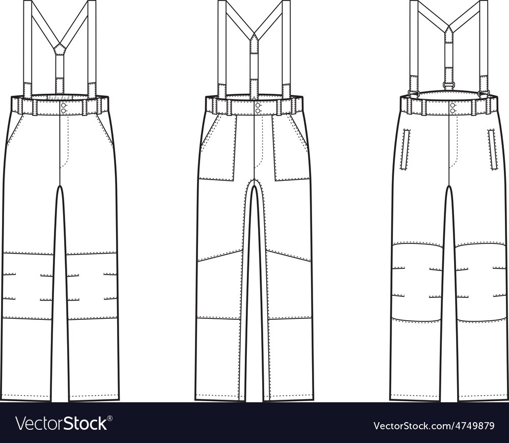 Work pants vector | Price: 1 Credit (USD $1)