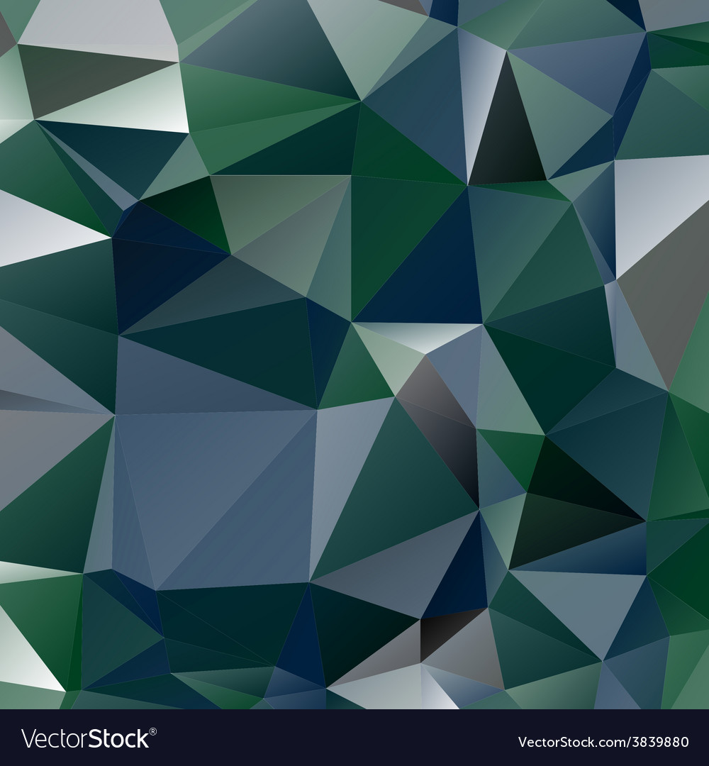 Abstract stained glass in green blue and grey vector | Price: 1 Credit (USD $1)