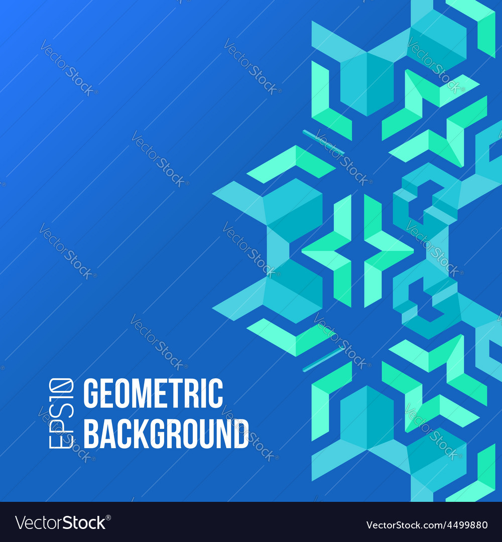 Blue green asymmetric abstract geometric vector | Price: 1 Credit (USD $1)