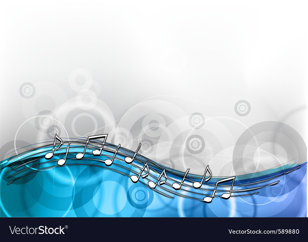 Blue music background vector | Price: 1 Credit (USD $1)
