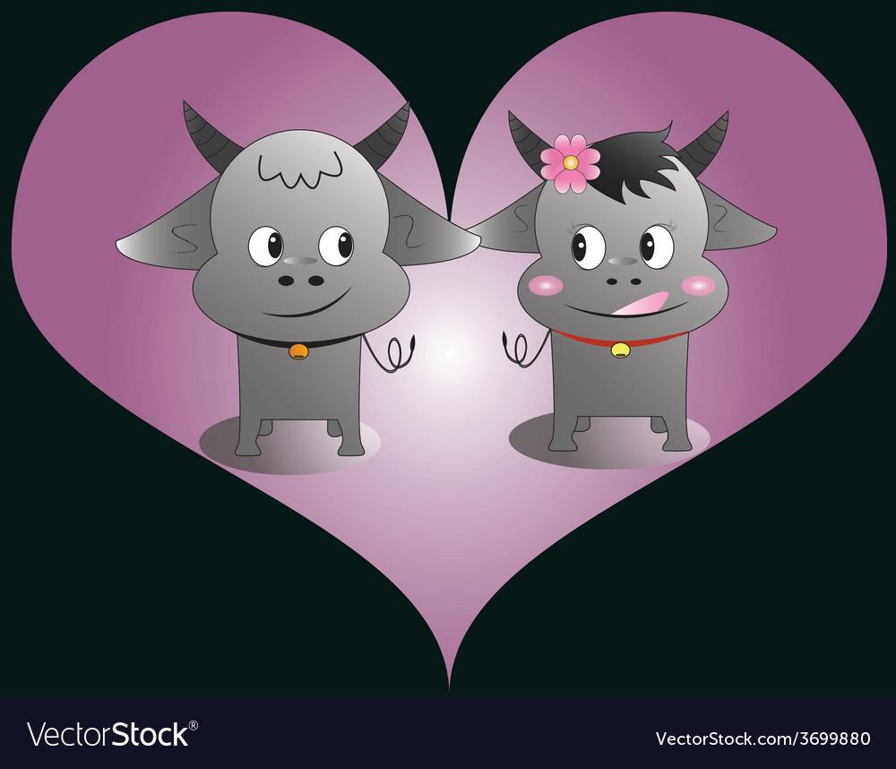 Buffalo love vector | Price: 1 Credit (USD $1)