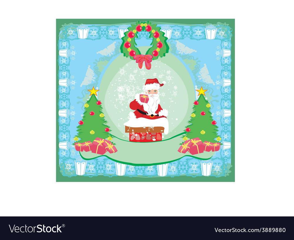 Christmas greeting card - funny santa claus vector | Price: 1 Credit (USD $1)