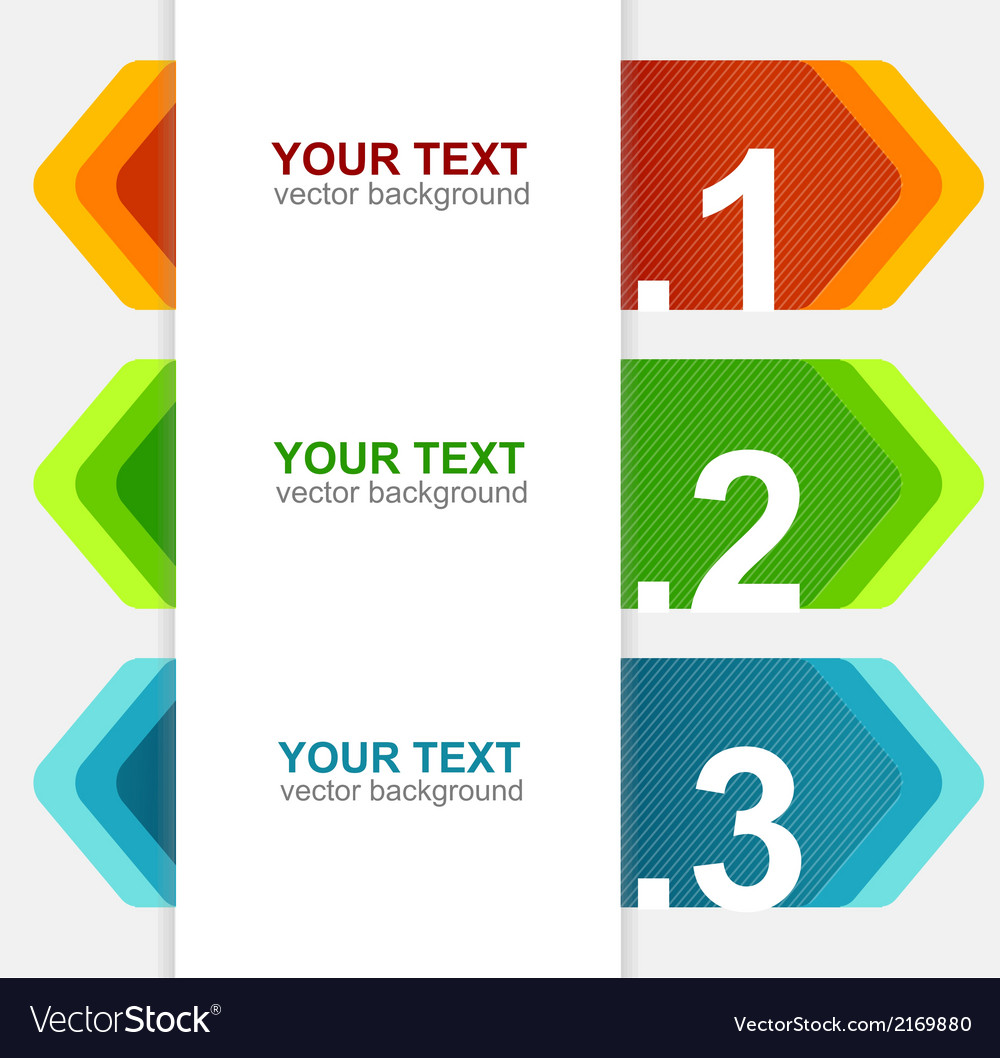 Colorful rainbow pencil text banner vector | Price: 1 Credit (USD $1)