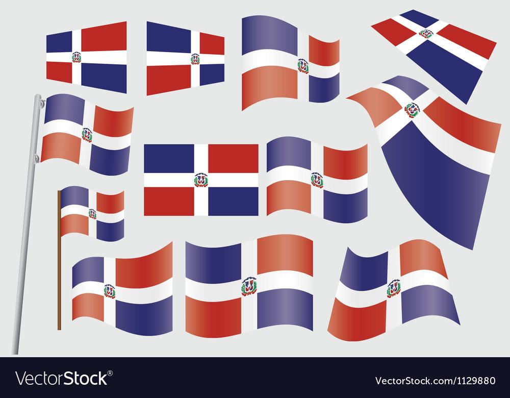 Dominican republic flag vector | Price: 1 Credit (USD $1)